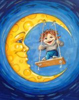 Swing from the moon... by Kalliope69