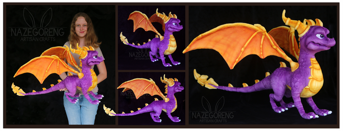 Spyro Custom Plush by Nazegoreng