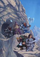 A Band of Dwarves Emerging from the Underworld by SpiralMagus