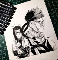 Zabuza and Haku by artxnoa