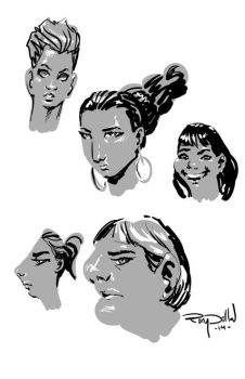 Experimental Lady Heads! by RayDillon