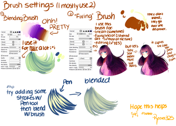 Brush Settings- Paint Tool Sai by ShintaRee