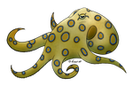 How I Draw: A Blue Ringed Octopus (request) by horse14t