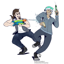 Com: SUPER SOAKER FIGHT by AlfaFilly