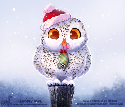 Daily Paint 1856# Snowy Owl by Cryptid-Creations