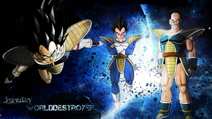 Saiyans Wallpaper by Lizardona