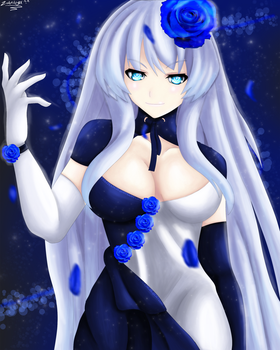 Hyperdimension: (Rei Ryghts) Blue Heart's Dress by ZalotAngel