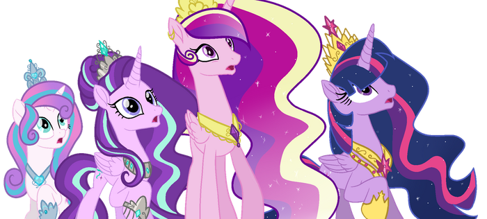 (+Video)MLP-Princesses Redesign by GihhBloonde