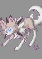 Pokemon: Lycanroc Midday Form by cutelittlepikakitty