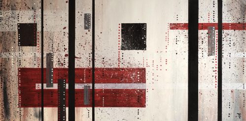 Acrylic abstract painting on paper by InkingArt