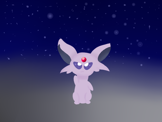 in memory of allspice the espeon by megameloetta