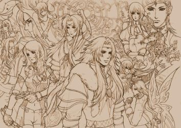 Saga Frontier - various chara. by shinjyu