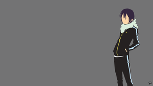 Yato V2 (Noragami) Minimalist Wallpaper by greenmapple17