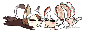 [P] Tanu and Chinchi Chibis by NobleTanu
