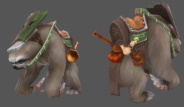WIP - WOW Sloth Mount 02 by Ruloc