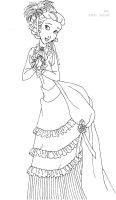 Jane deluxe gown lineart by LadyAmber