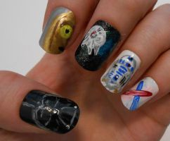 Star Wars nails by henzy89