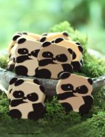 Adorable Panda Bear Cookies by theresahelmer