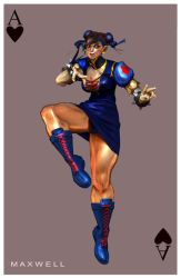 CHUN LI - SNOW WHITE CARD by WXKO