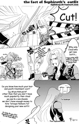 d fact of sephiroth's outfit by Tipleloop