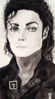 Michael Jackson - ''Bad'' - Watercolor by Fenceclimber