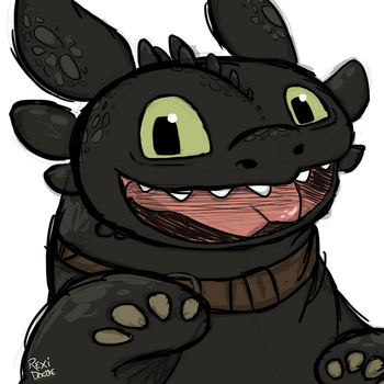 Happy Toothless by RexiDoodle