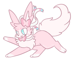 Art Trade Eevee Sylveon by ShinyGlace