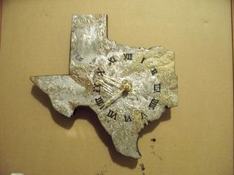 Gold And Silver Texas Clock FOR SALE! 75$! by johnlewisbrooks