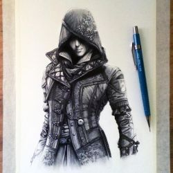 Evie Frye Drawing - Assassin's Creed Syndicate by LethalChris
