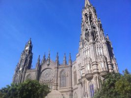Arucas Cathedral on Gran Canaria by Skitime123