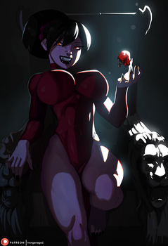 Halloween Print - Tsundere Terri as a Vampire by morganagod