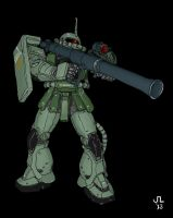 MS-06S Zaku II by JDAtrocityExhibition