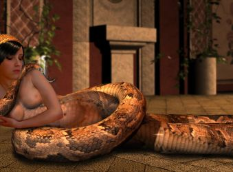 Relaxing Lamia by mythster-seven