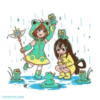 Froppy and Sakura shirt printing on TheYetee today by SarahRichford