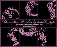 Decorative Brushes by twilight-aria