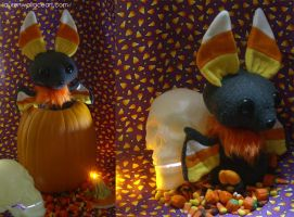 Candycorn Bat Plush 2 by GrowlyLobita