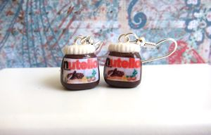 Nutella Jar Earrings by LittleSweetDreams