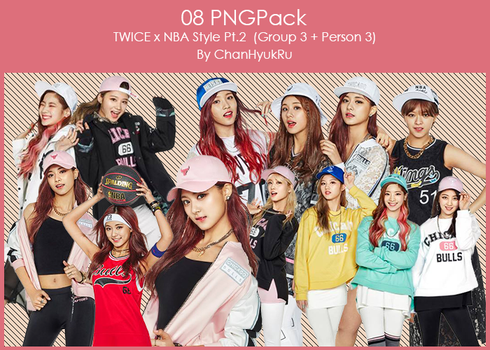08 / TWICE x NBA Style Pt.2 PNGPack by ChanHyukRu