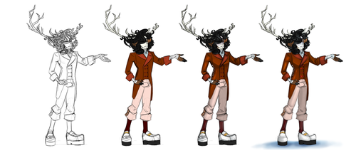Stag!Andy progress by DeviousVampire