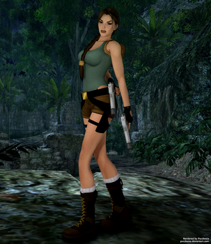 Lara Croft TR4 Classic (Blender Test) by puczkosia