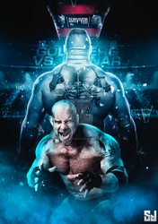 Brock Lesnar Vs goldberg poster by Sjstyles316