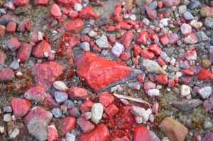 So Much Red - red paint on rocks by JAStar4