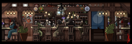 Retro Cafe Remake (Large) by Duckpasta