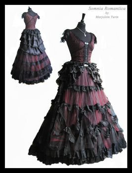 3 piece 2, dress, bustle, blouse, Somnia Romantica by SomniaRomantica