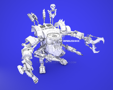 Ork Deaffdead Wireframe by babushke