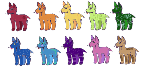 Point adoptable puppers CHEAP (OPEN 10/10) by haeress