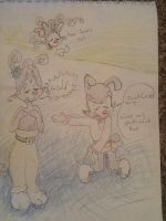 Vasilly and Yakko Clothe swap doodle by 17cherry