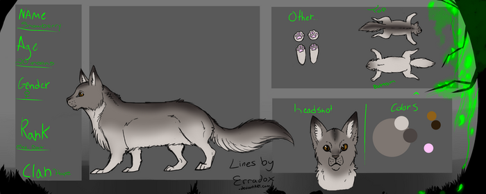 Reference Sheet for Snowberry by NataliaDriscol