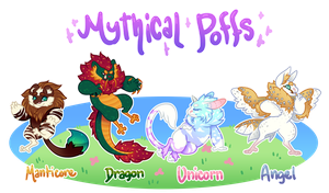 Mythical Poffs! [OPEN - 1 LEFT] by MeetTheGhost