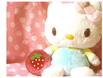 strawberry hello kitty plush by kawainess